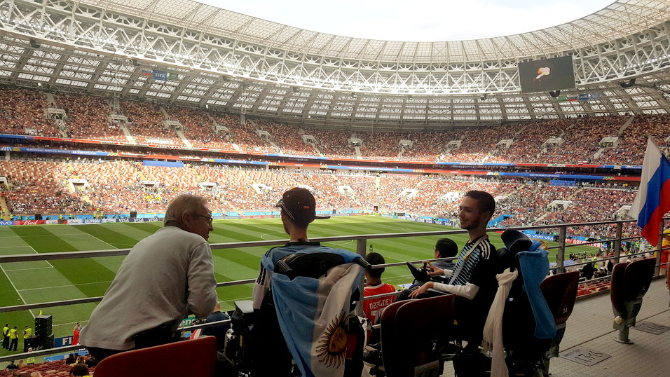 Family of Israel in the Russian Football World Cup. Accessible trip.