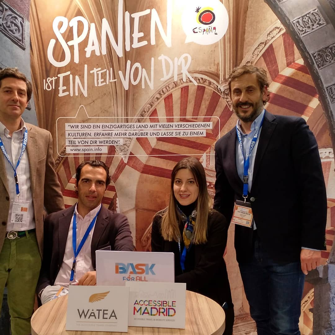 Equipo de Accessible Madrid y Bask for all en la feria internacional de turismo de Berlín